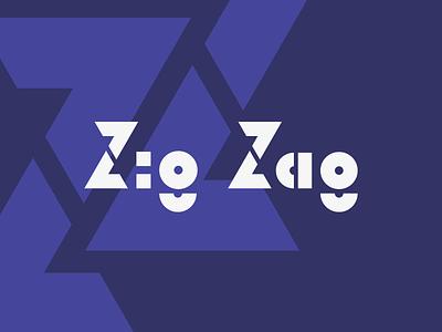 Zig Zag Logo Wordmark logo mark logo design logotype web agency programming wordmark type branding logo