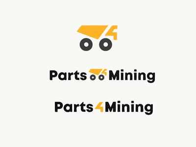 Parts4Mining Logo Concept illustration sketch number 4 parts mark branding logo