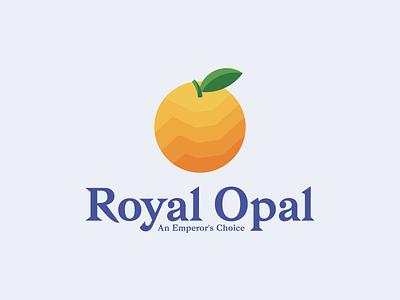Royal Opal Logo Design logotype branding symbol mark logo organic royal roman opal orange logo orange