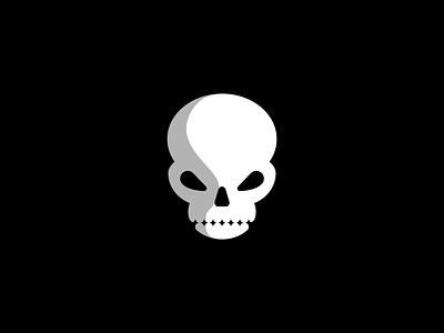Spooky Skull Logo design illustration flat icon symbol mark halloween skull logo