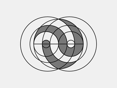 Yin & Yang Verison Grid yinandyang flat design balance symbol logo identity branding