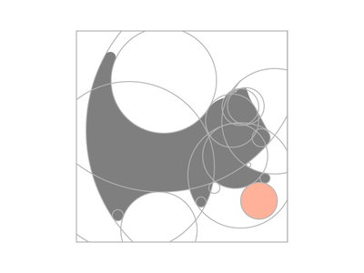 Cute Cat Grid cute cat animal grid flat design mark symbol logo identity branding