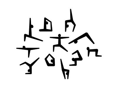 Yoga Logo Collection people human yoga flat design mark symbol logo identity branding