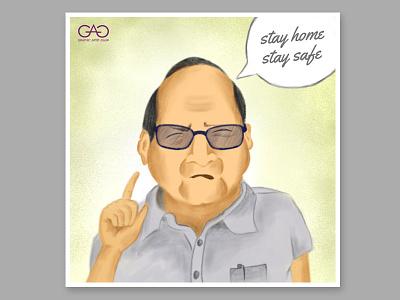 Sharad Pawar Caricature dribbble creative concept art digital painting adobe photoshop meme cartoon portrait caricature