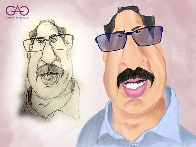 Caricature of Uddhav Thakrey politician coronavirus concept art dribbble portrait painting portrait sketch caricature adobe photoshop illustration
