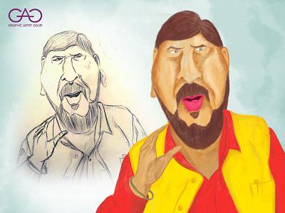 Ramdas Aathavale - Caricature cartoon portrait painting creative sketch digital painting adobe photoshop portrait caricature
