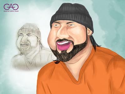 Yo Yo Honey Singh - Caricature digitalart digital painting caricature portrait painting sketch adobe photoshop