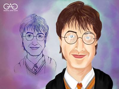 Harry Potter - Caricature portrait painting digital painting harrypotter cartoon caricature sketch concept art adobe photoshop