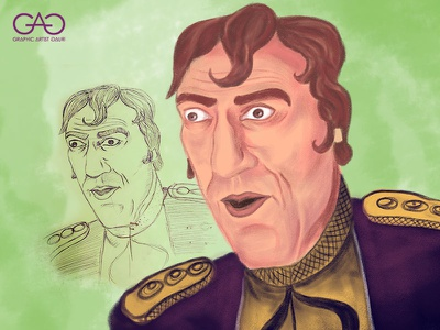Mogambo - Caricature bollywood portrait caricature digital painting illustration sketch concept art adobe photoshop