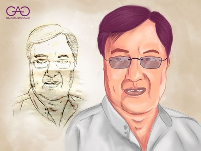 Jagjit Singh - Caricature portrait painting cartoon art caricature illustration digitalart digital painting sketch adobe photoshop