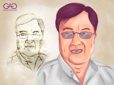 Jagjit Singh - Caricature portrait painting cartoon art caricature illustration digitalart digital painting sketch adobe photoshop