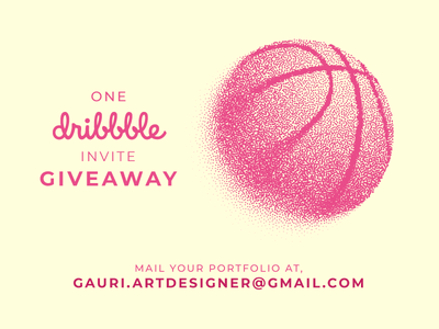 One Dribbble invite Giveaway giveway invite dribbble dribbble invitation dribbble invite