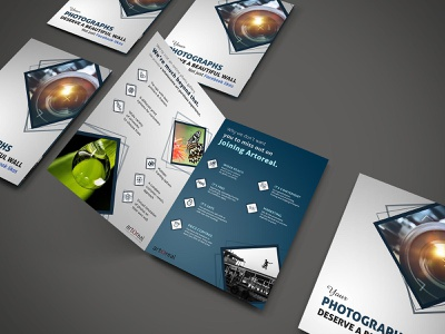 Bi-fold Brochure Design for Photographers artoreal branding a4 brochure adobe photoshop brochure design brochure