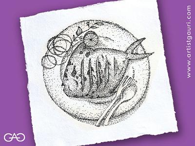 Inktober Day 1 : Fish pointilism striplingart sketch inktoberchallenge inktober2020 inktober