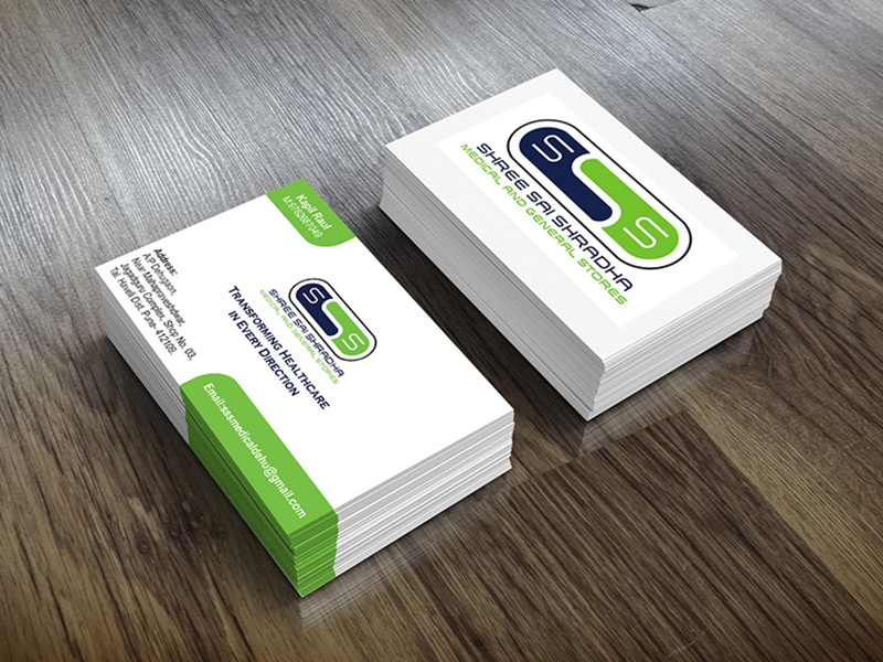 Logo and visiting card design for medical shop by graphic artist logo and visiting card design for medical shop colourmoves