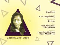 About Me - Graphic artist Gauri