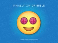 Finally Got Invite of Dribbble - Heartly Thanks to Vish Vector⚡️