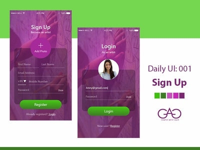 Day 1 - Signup DailyUI Challenge
