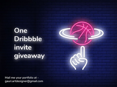 One Dribbble invite giveaway concept art adobe photoshop giveaway illustration dailyui bestshot dribbble invites dribbble invite