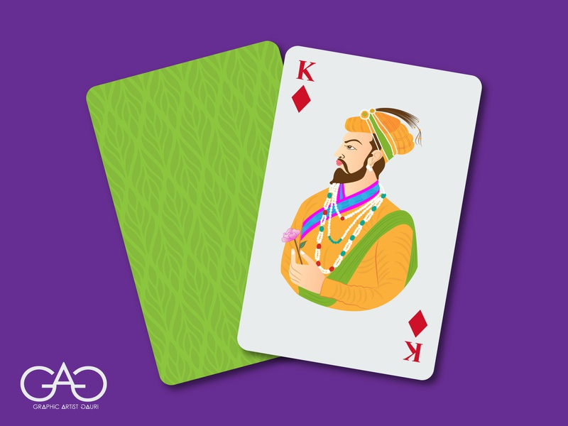 Dribbble weekly warmup - Card Design king rajasthan traditional art rebound concept art creative card illustration vector adobe illustrator dribbble best shot dribbble