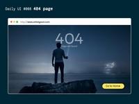 DailyUI 008 : 404 page