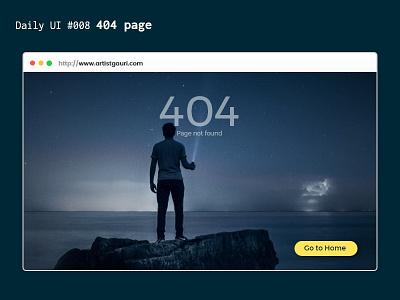DailyUI 008 : 404 page freelancer user experience user interface website design adobexd creative ui collect ui dailyui