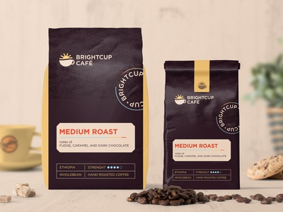 Brightcup Coffee Packaging brand identity packaging design coffee beans roasted coffee coffee packaging