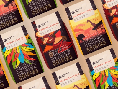 Origins Coffee Packaging packaging design coffee branding brand identity design cafe coffee beans packaging