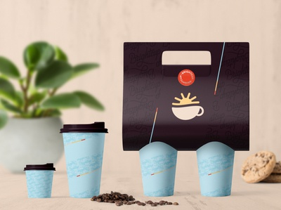 Brightcup Cafe - Paper cups and cup holder
