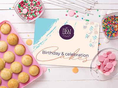 B&N Cakes Logo Design brand identity designer brand identity brand design cake shop logo cake shop logo designer uk cake logo bakery cake