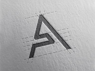 Letter A monogram simple clean letter a logo monogram