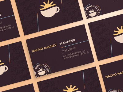 Brightcup Cafe branding brightcup coffee cafe brand identity logo business card
