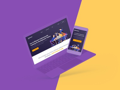 Adversary - Website Redesign security training education cybersecurity ux illustration ui responsive website design