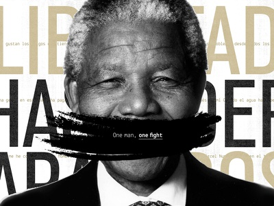 One man, one fight - Nelson Mandela Editorial Fascicle magazine typography collection fascicle graphic design editorial mandela nelson