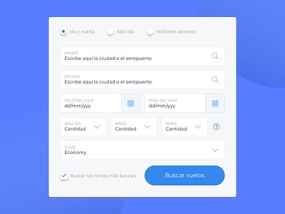 Airline redesign concept - Find Flight Widget concept website booking calendar search airport trip flight find widget