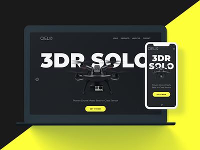 Drone Retailer Responsive Website Design responsive drones ui website design