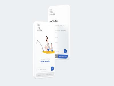 Do The Work: ToDo List app illustration reactjs react web application application lists list task management task manager tasks todo list todo app todo responsive design website