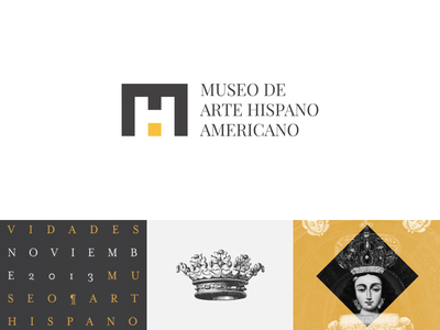 Museo de Arte Hispanoamericano - Brand Identity editorial poster brand logo design stationary identitydesign identity museum typography branding design