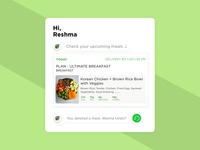 Conversational UI for a food subscription service