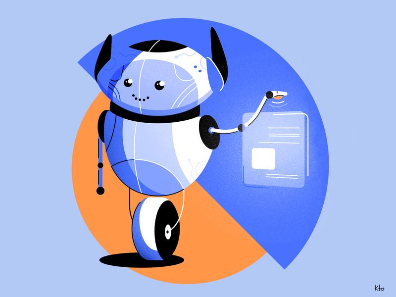 Robotutor noise blue robotics simple concept design learning app mascot mobile app concept droid android bot robot character design vector design illustration