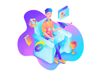 Educational Platform Illustration