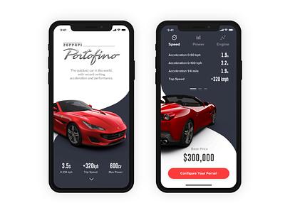 Ferrari App Concept mobile ux ui concept ios app ferrari ios app adobe xd
