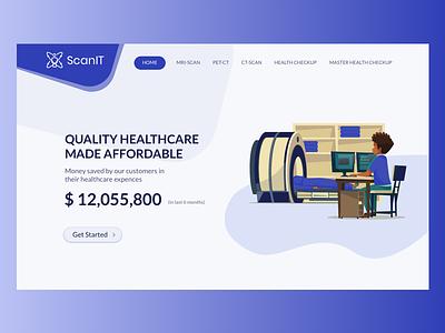 ScanIT - Medical Diagnostics Banner scan healthcare ui ux landing page diagnostic web medical diagnostics banner