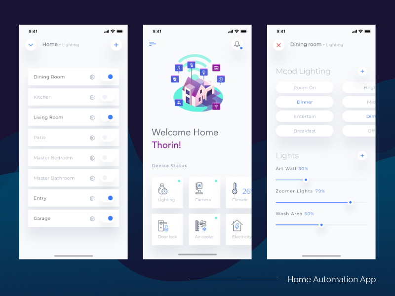 Home automation dribbble