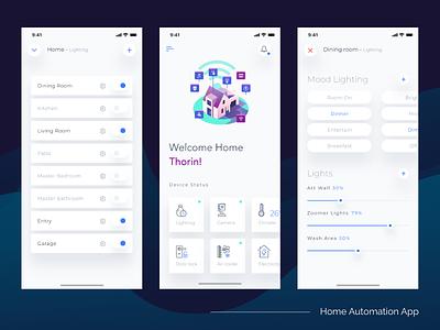 Home Automation Concept smart home minimalistic ux ui ios home automation