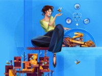 Material Ecology architect building city affinity designer honeycomb science architecture neri oxman neri oxman bee character illustration