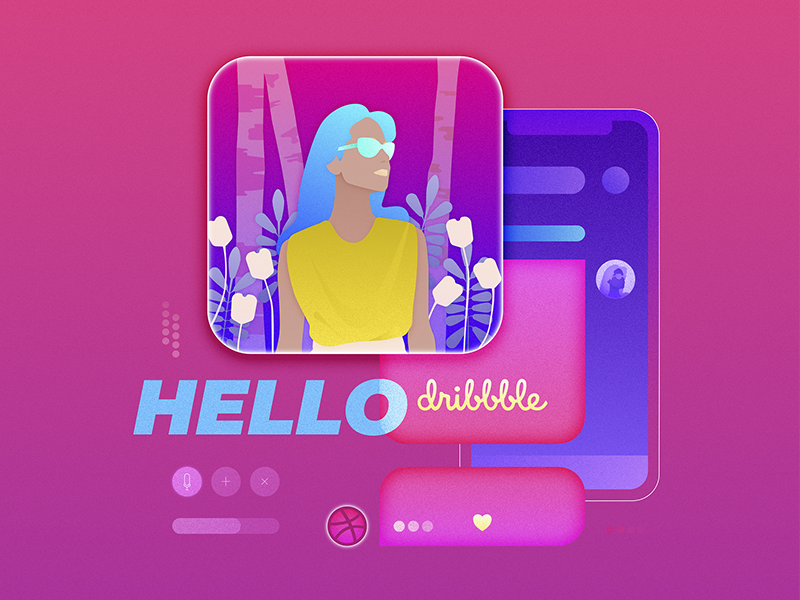 Hello dribbble! affinity designer graphic design illustration debut hello dribbble
