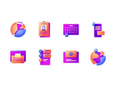 Small Icon Set set color graphic design icons