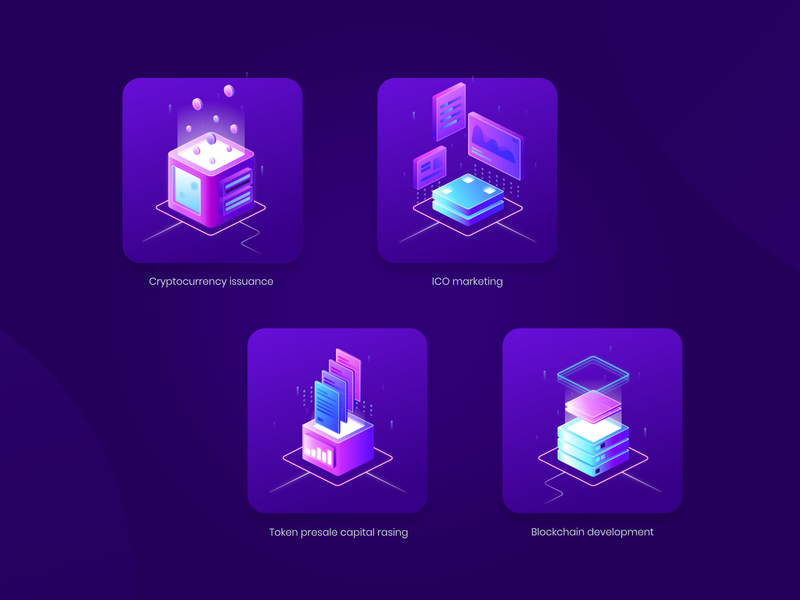 Cryptocurrency Issuance affinity designer marketing ico token blockchain cryptocurrency icons