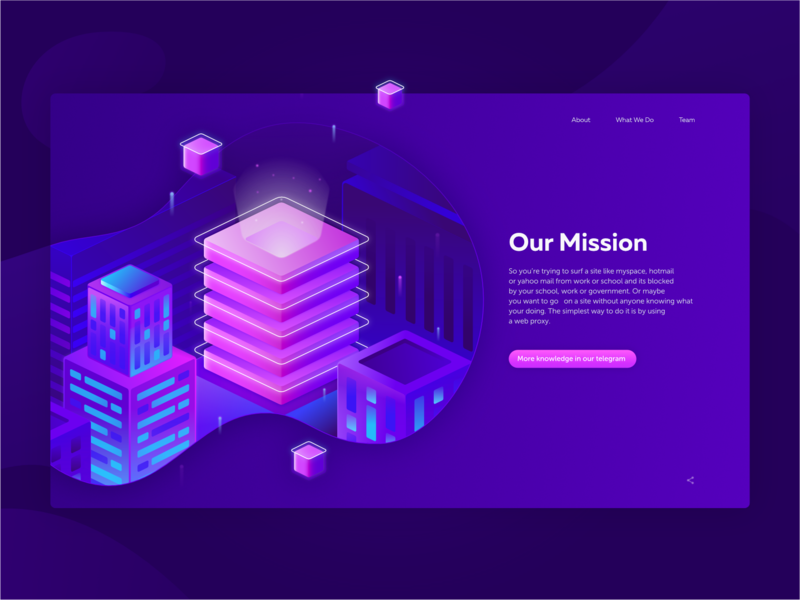 Cryptocurrency Websiteour Mission city isometric token marketing ico website banner affinity designer illustration crypto currency